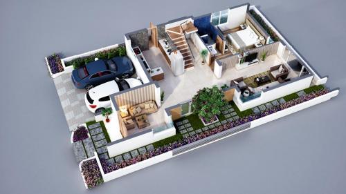 Sancia-East-Villa-GF 3d-Floor-Plan