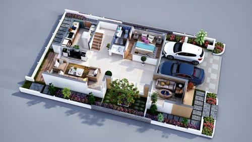 Sancia-west Villa-GF 3d-Floor--plan